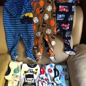 Other - 7 sets of boys pajamas size 12 months